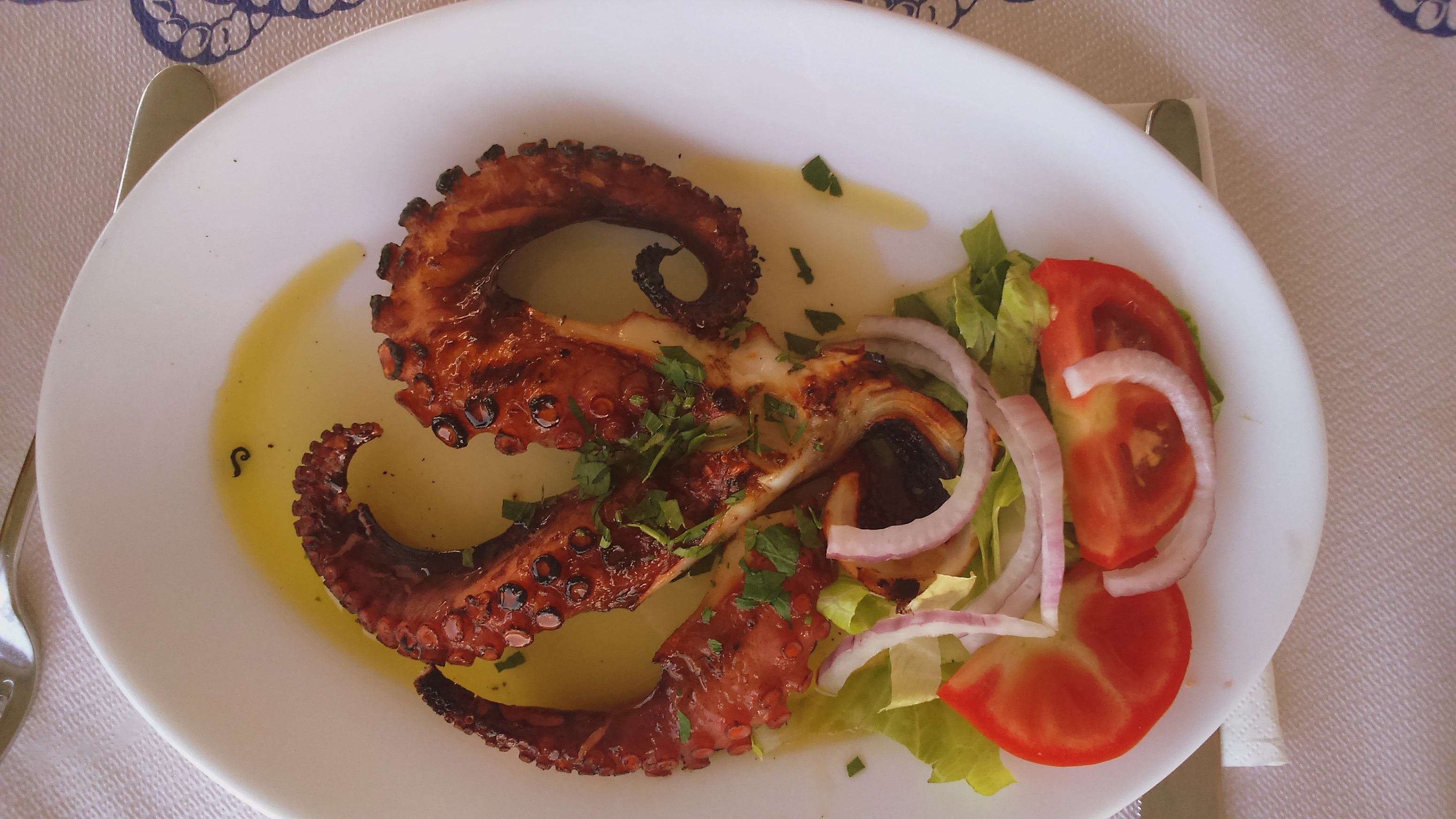 Grilled octopus, Kissamos, Crete.
