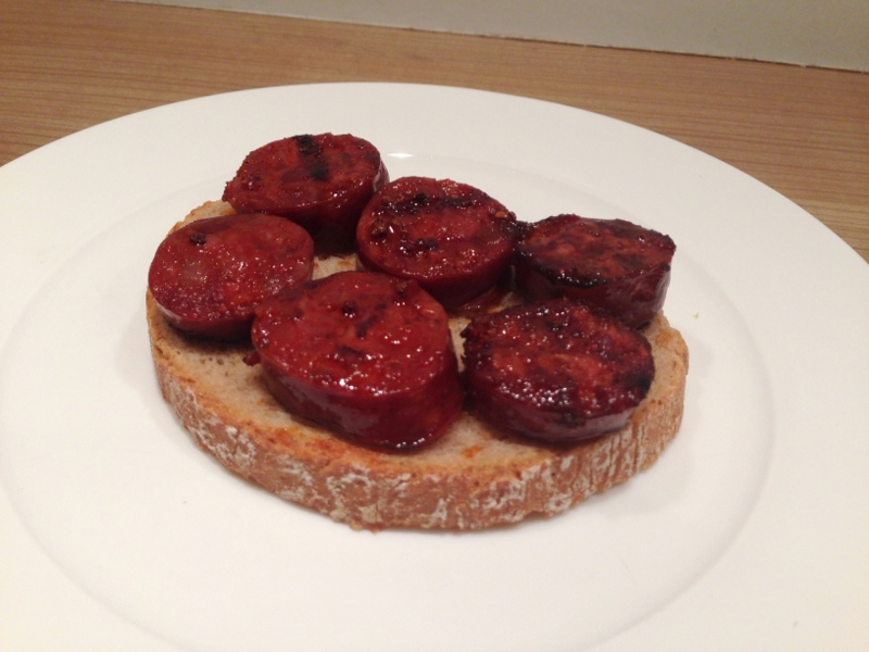 Bruschetta with chorizo